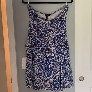Gap Hawaiian flower print, strapless dress